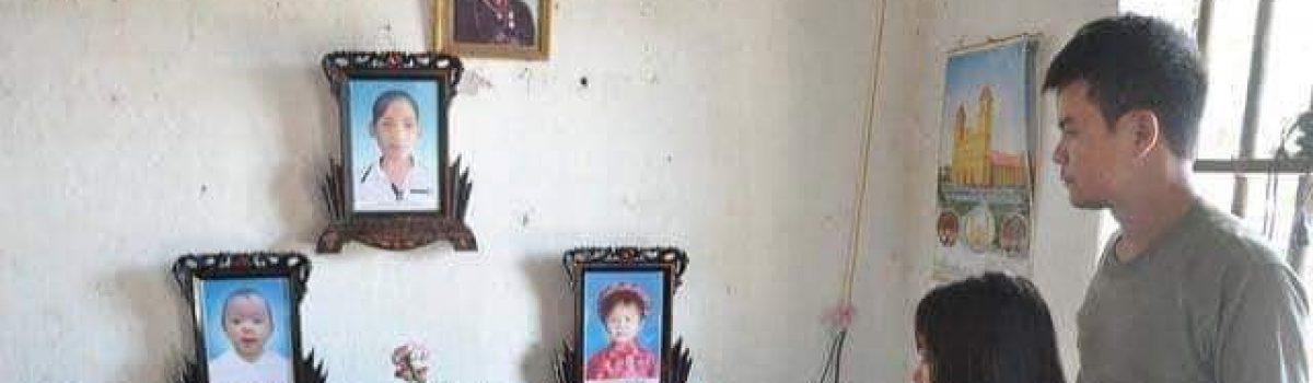 Nam Định: Hai con nhỏ bị mất vì bệnh não, người mẹ bị liệt nửa người – Lời kêu gọi tháng 2/2019
