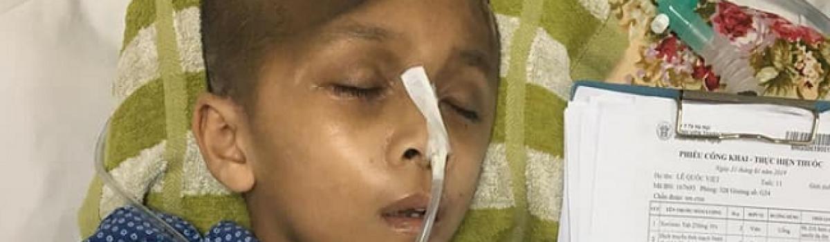 Kêu gọi giúp đỡ em Lê Quốc Việt – học sinh lớp 5 bị chấn thương sọ não và bẹp một góc não | Hành trình số 3/2019