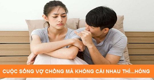 Cuộc sống vợ chồng mà không cãi nhau thì....hỏng!